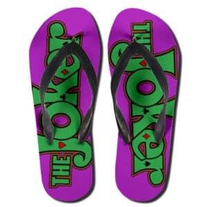 DC Comics The Joker Logo Art Awesome Flip Flop Slippers