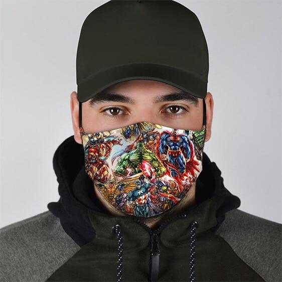 DC Comics and Marvel Universe Superheroes Cloth Face Mask