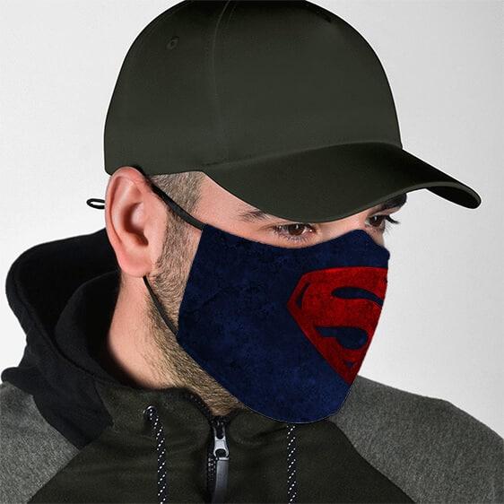 DC Superman Red Symbol Navy Blue Filtered Face Mask