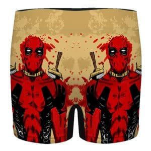Deadpool Comic Paint Splash Art Badass Men's Underwear