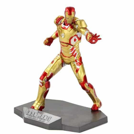 Golden Iron Man Mark XLII Armor Statue Model Figure