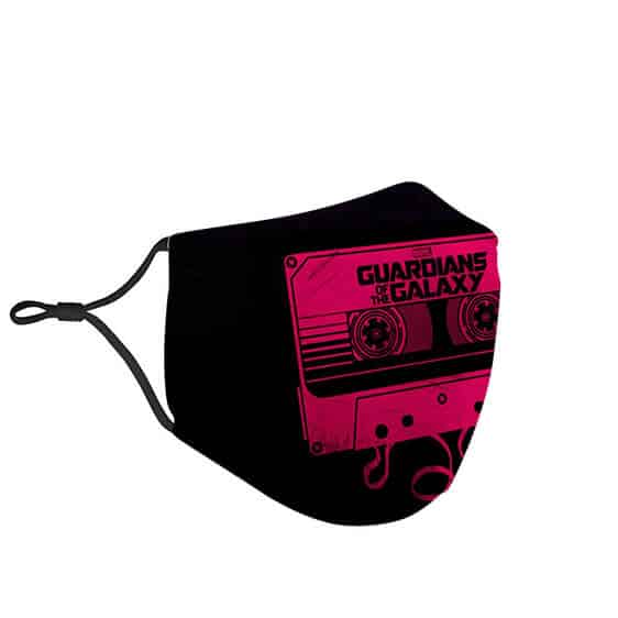 Guardians of the Galaxy Loose Cassette Tape Black Face Mask
