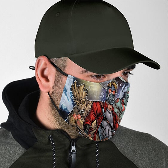 Guardians of the Galaxy Main Heroes Dope Art Face Mask