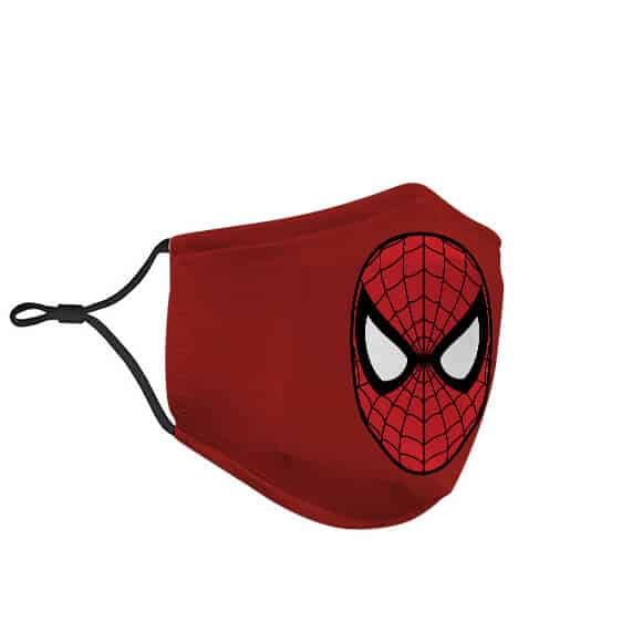 Iconic Spider-Man Face Logo Minimalist Red Face Mask