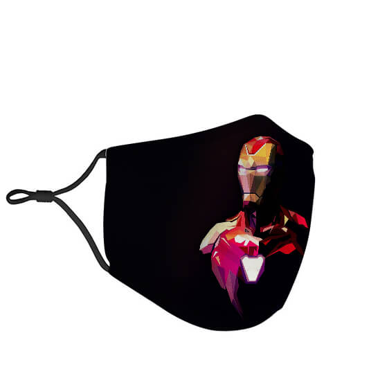 Iron Man Mark 85 Suit Abstract Art Black Face Mask