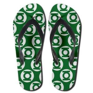 Justice League Green Lantern Logo Pattern Dope Flip Flops