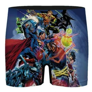 Justice League Heroes VS Darkseid Dope Men's Boxer Briefs