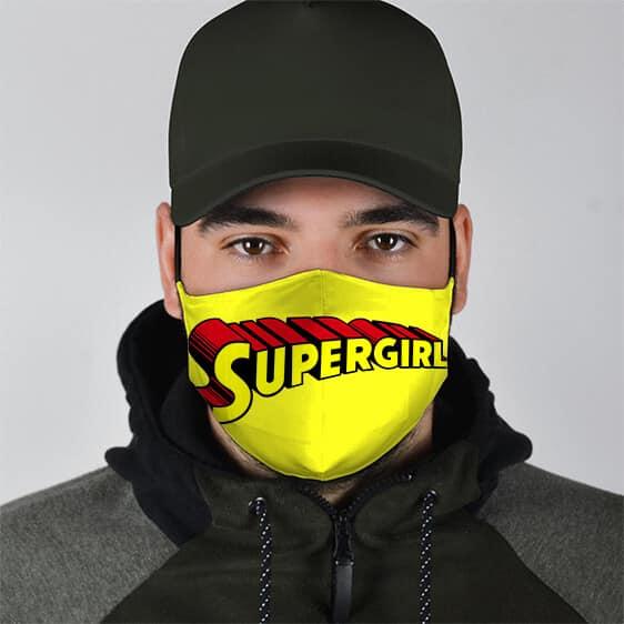 Kara Danvers Supergirl Name Logo Yellow Filtered Face Mask