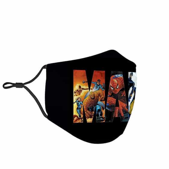 MCU Marvel Comics Superheroes Logo Cloth Face Mask