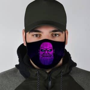 MCU Thanos The Dark Lord Purple Art Cloth Face Mask