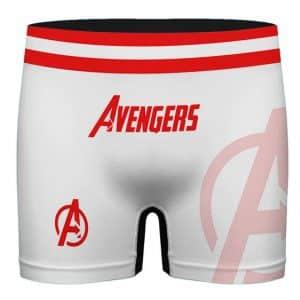 Marvel Avengers Logo Minimalist Art White Men's Boxer Briefs