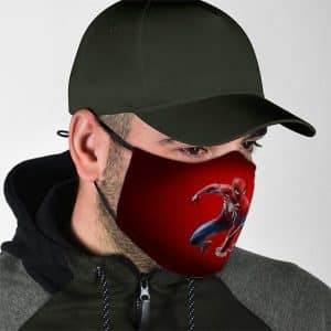 Marvel Comics Amazing Spider-Man Red Filtered Face Mask