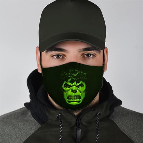 Marvel Comics Gamma Radiation Enraged Hulk Face Mask