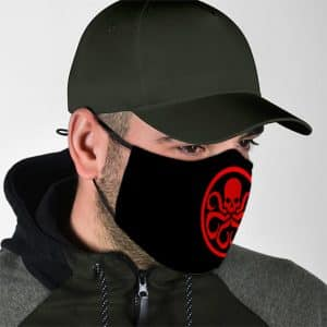 Marvel Comics Red Skull Hydra Logo Black Face Mask