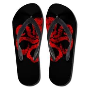 Marvel Comics Terrorist Group Hydra Logo Badass Flip Flops