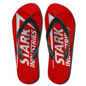 Marvel Iron Man Stark Industries Logo Flip Flop Slippers