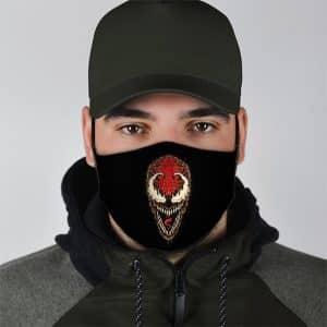 Marvel Supervillain Carnage Black Filtered Face Mask