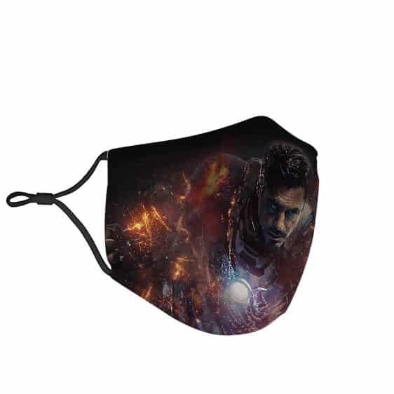 Marvel Tony Stark Iron Man Bruised Armor Cloth Face Mask