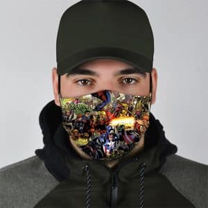Marvel Universe Superheroes Crossover Art Face Mask
