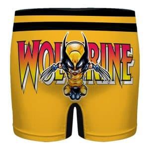Marvel Wolverine Comic Logo Art Amazing Men's Boxer Briefs