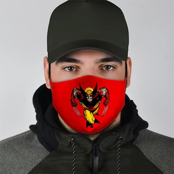 Marvel X-Men Mutant Wolverine Red Filtered Face Mask