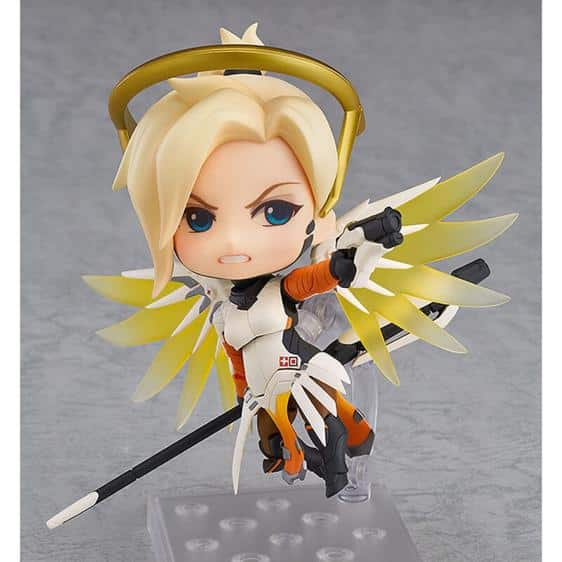 Overwatch Mercy Classic Skin Chibi Action Toy Figure