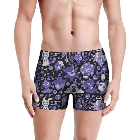 Rare Ghost Type Pokemon Pattern Purple Men's Underwear