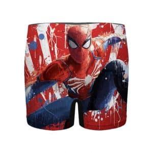 Spider-Man Playstation Game Drip Art Men's Boxer Briefs