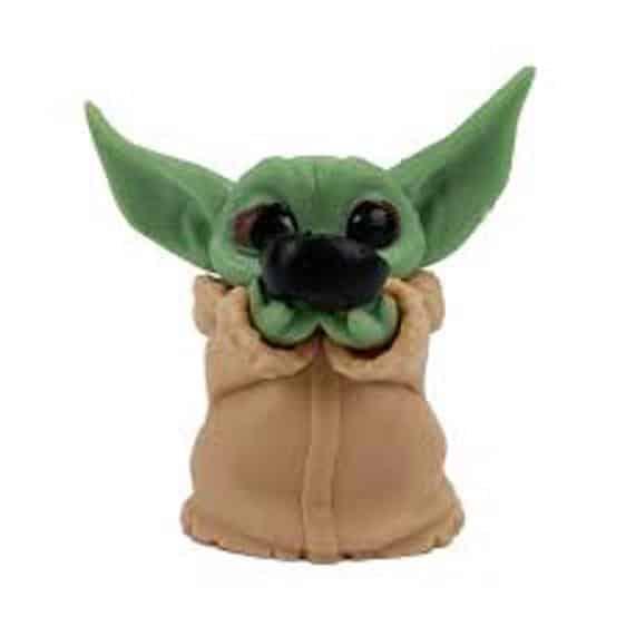 Star Wars Mandalorian Grogu Baby Yoda Mini Statue Toy Set