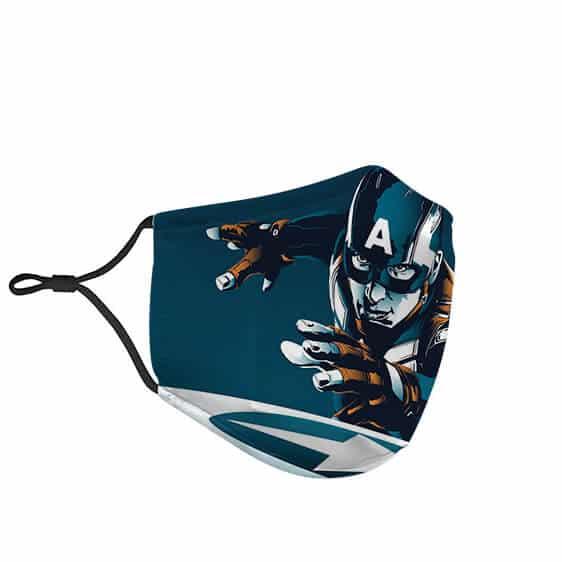 Steve Rogers Captain America Art Blue Cloth Face Mask