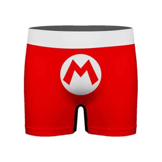 Super Mario Iconic Costume Logo Red Men's Boxer Shorts