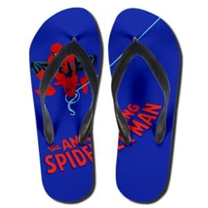The Amazing Spider-Man Web Swinging Art Flip Flop Slippers