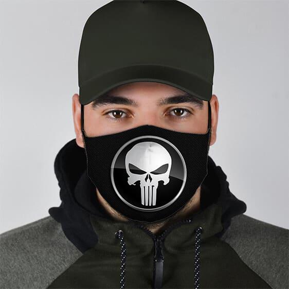 The Punisher Skull Logo Icon Marvel Filtered Face Mask