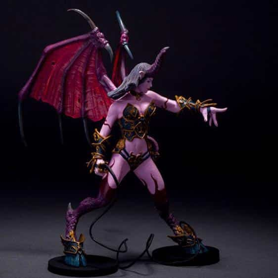 WOW Succubus Demon Amberlash Collectible Model Toy