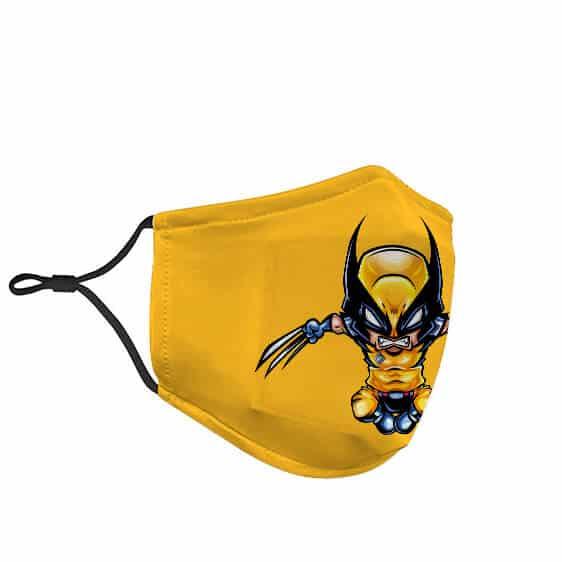 X-Men Wolverine Adorable Chibi Art Yellow Face Mask
