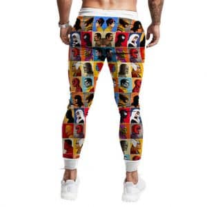 Awesome Marvel Comics Superheroes Icon Jogger Pants
