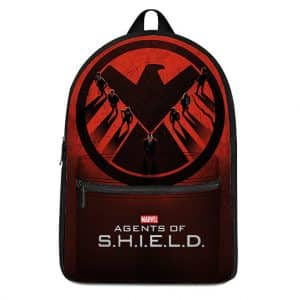 Marvel Agents of S.H.I.E.L.D. Members Cool Red Backpack