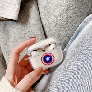 Captain America Vibranium Shield Logo AirPods Case