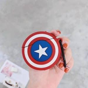Captain America's Vibranium Shield Marvel AirPods Cover