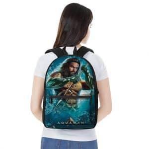 DC Comics Aquaman Movie Poster Design Stylish Backpack