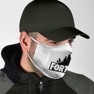 Cool Fortnite Logo Minimalistic White Design Cloth Face Mask
