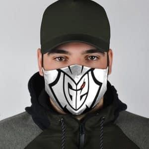 Amazing G2 Gaming Esports Logo White Filtered Face Mask