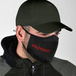 Stunning Fantasy Shooter Valorant Logo Black Cloth Face Mask