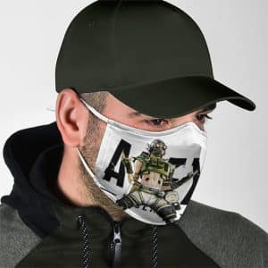 Apex Legends Daredevil Octane Artwork White Face Mask