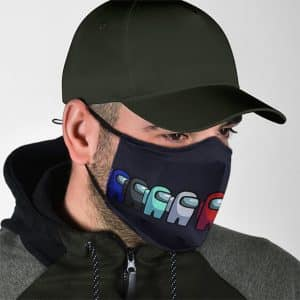 Classic Among Us Crewmates Dope Black Filtered Face Mask