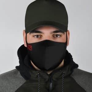 Dota 2 Logo Minimalistic Design Black Filtered Face Mask