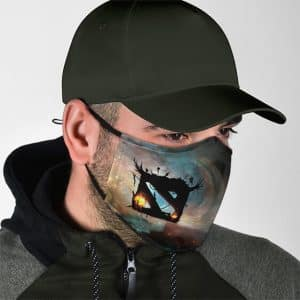 Dota 2 Logo Galaxy Background Dope Cloth Face Mask