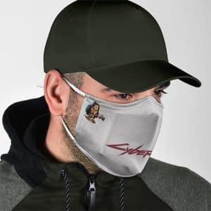Cyberpunk 2077 Johnny Silverhand Cartoon Cloth Face Mask