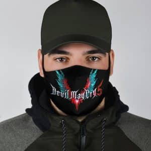 Devil May Cry 5 Devil Trigger Wings Logo Cool Face Mask