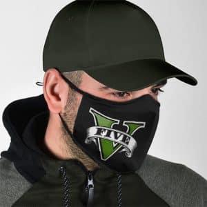 Grand Theft Auto V Awesome Logo Design Cloth Face Mask